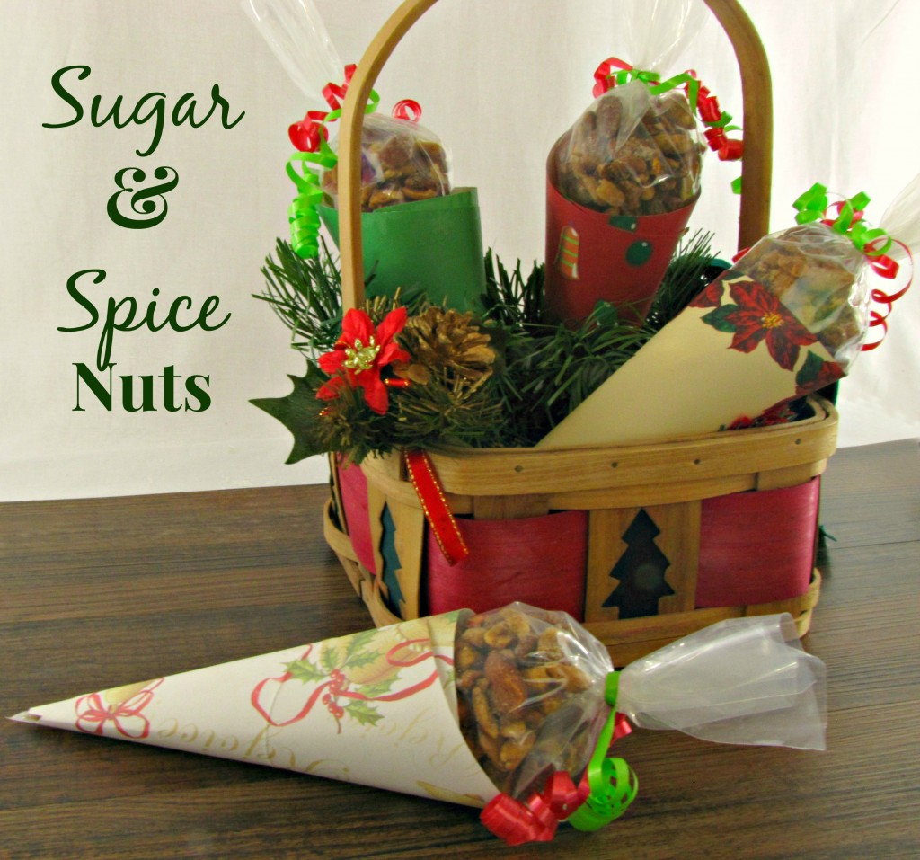 Sugar and Spice Nuts in Paper Cones