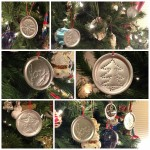 Canning Jar Lid Punched Tin Ornaments on the Tree