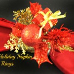 Glitzy Holiday Napkin Rings