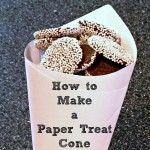 How to Make a Paper Treat Cone