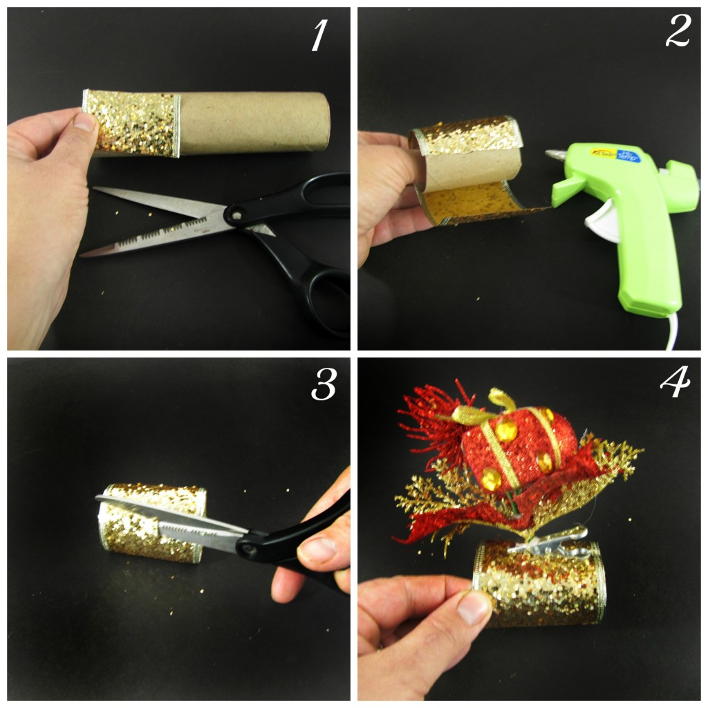 Making Glitzy Holiday Napkin Rings