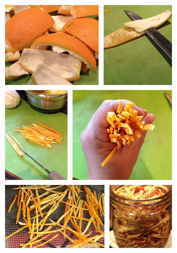 Drying Orange Peels