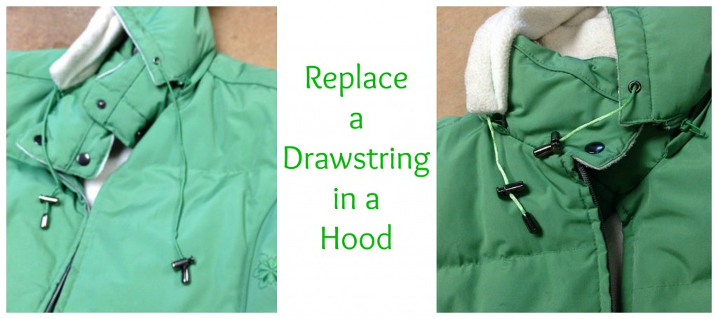 How to Replace a Drawstring in a Coat Hood