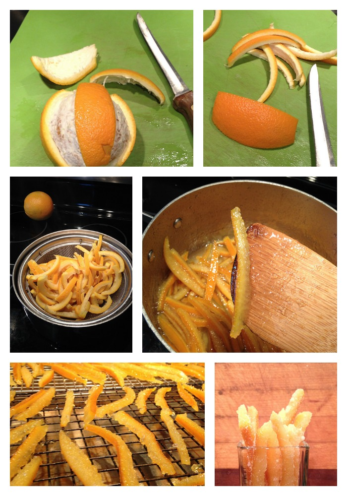 Making Candied Orange Peels