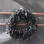 DIY: Frugal Halloween Trash Bag Wreath