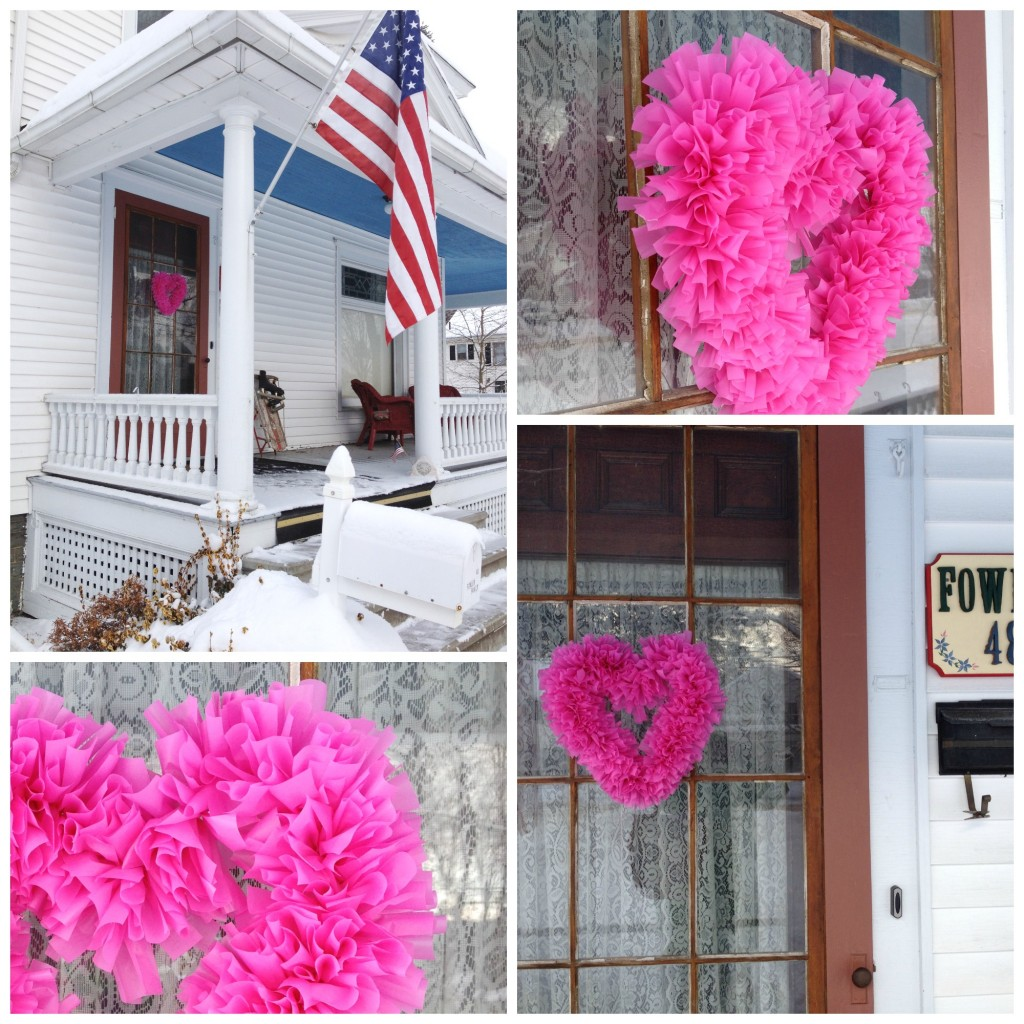 How to Make a Fluffy Valentines Day Wreath -- Inexpensively