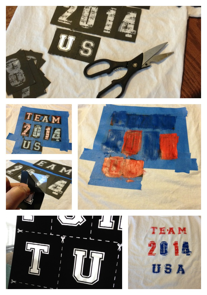 How to make a Zip Screen Team USA T shirt