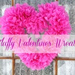 "Easy and Inexpensive "" Fluffy Valentines Day Wreath """