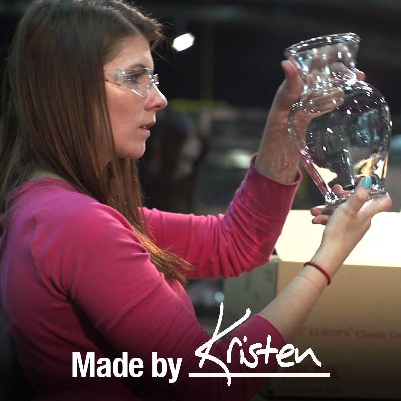"It's a great feeling to walk into a store, see something on the shelf and be able to say, ""Hey, I helped make that!"" Kristen knows that pride. She works at an EveryWare Global facility in Monaca, Pennsylvania that supplies glassware for Walmart."