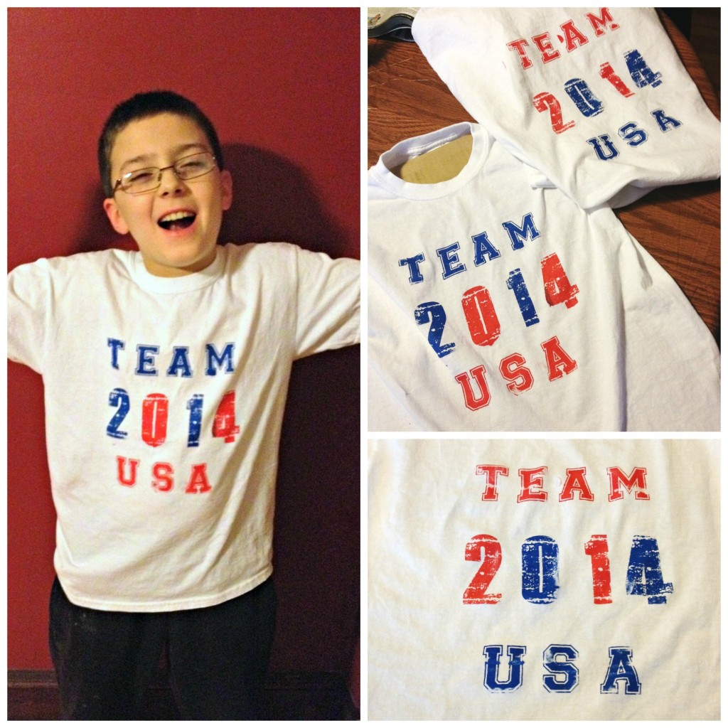 The completed Team USA T Shirts