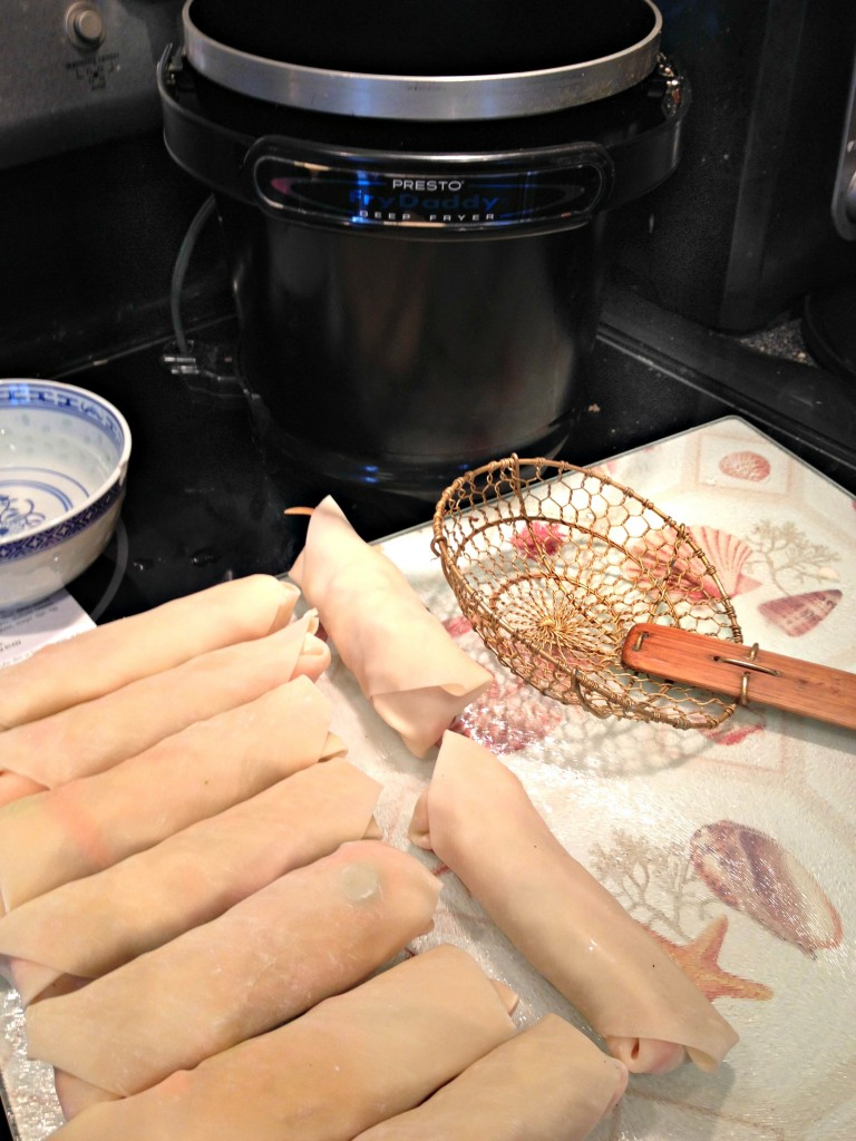 Cooking Homemade Eggrolls