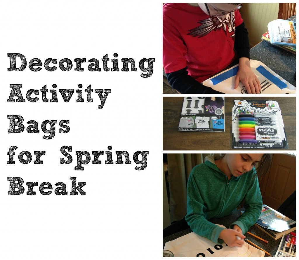 Decorating Activity Bag for Spring Break