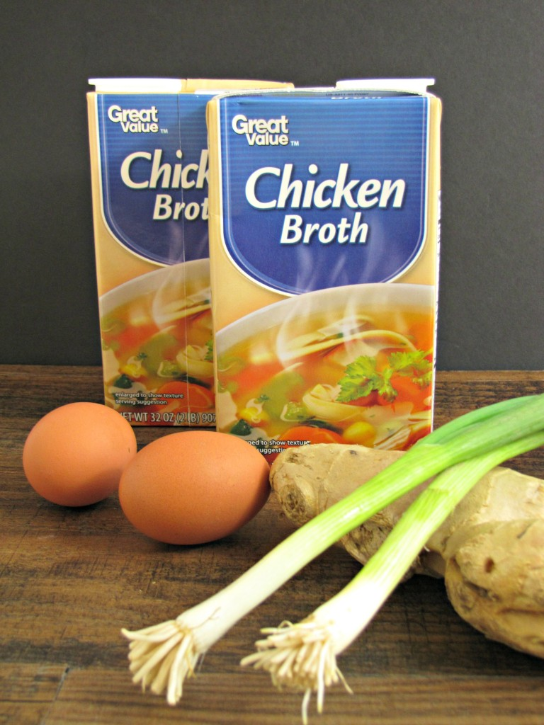 Ingredients for Homemade Egg Drop Soup