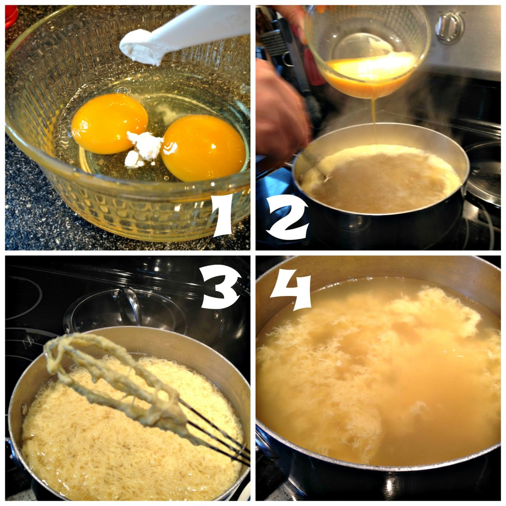 Making the Egg Drop Soup