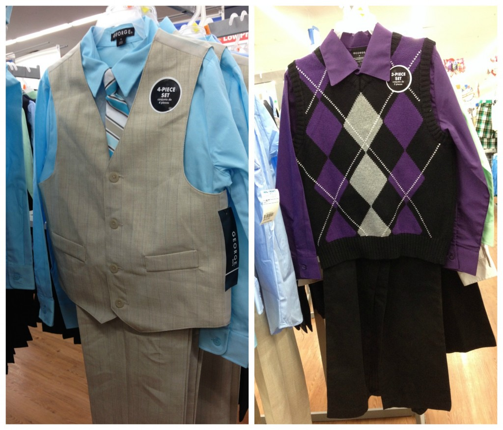 Boys suits in store