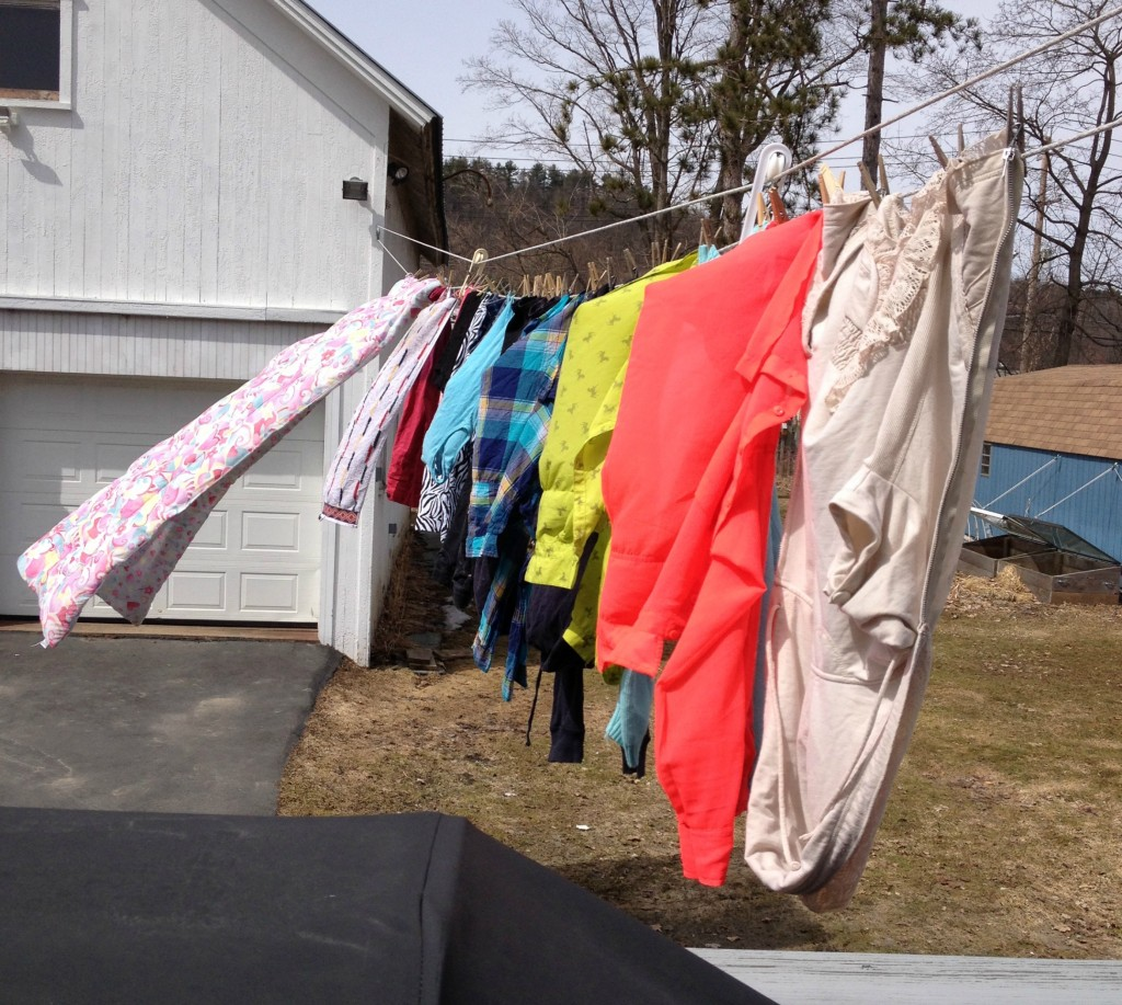 First Line Dried Laundry of Spring