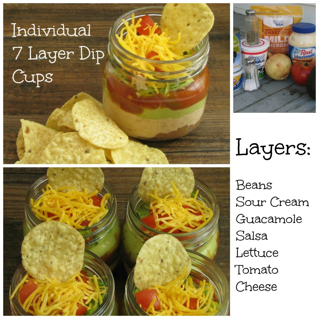 How to make little 7 layer dips