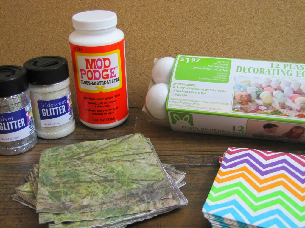 Materials for Plastic Decorating Egg Project