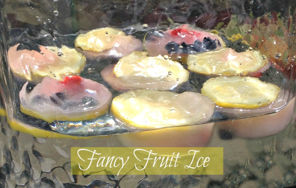 Fancy Fruit Ice Cubes