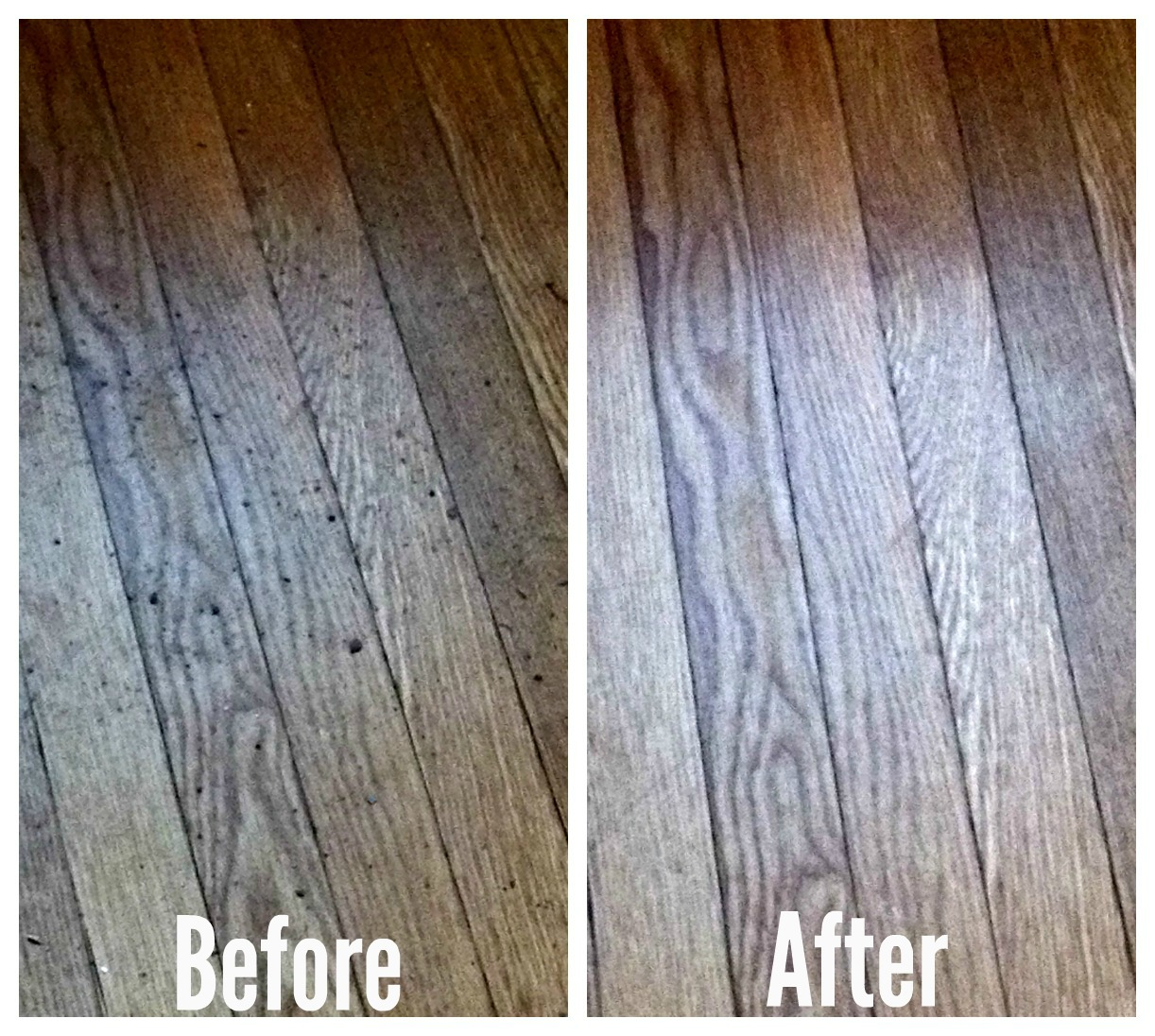 Floor before and after Symphony