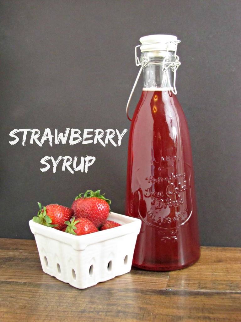 Strawberry Syrup (and Strawberry Soda)
