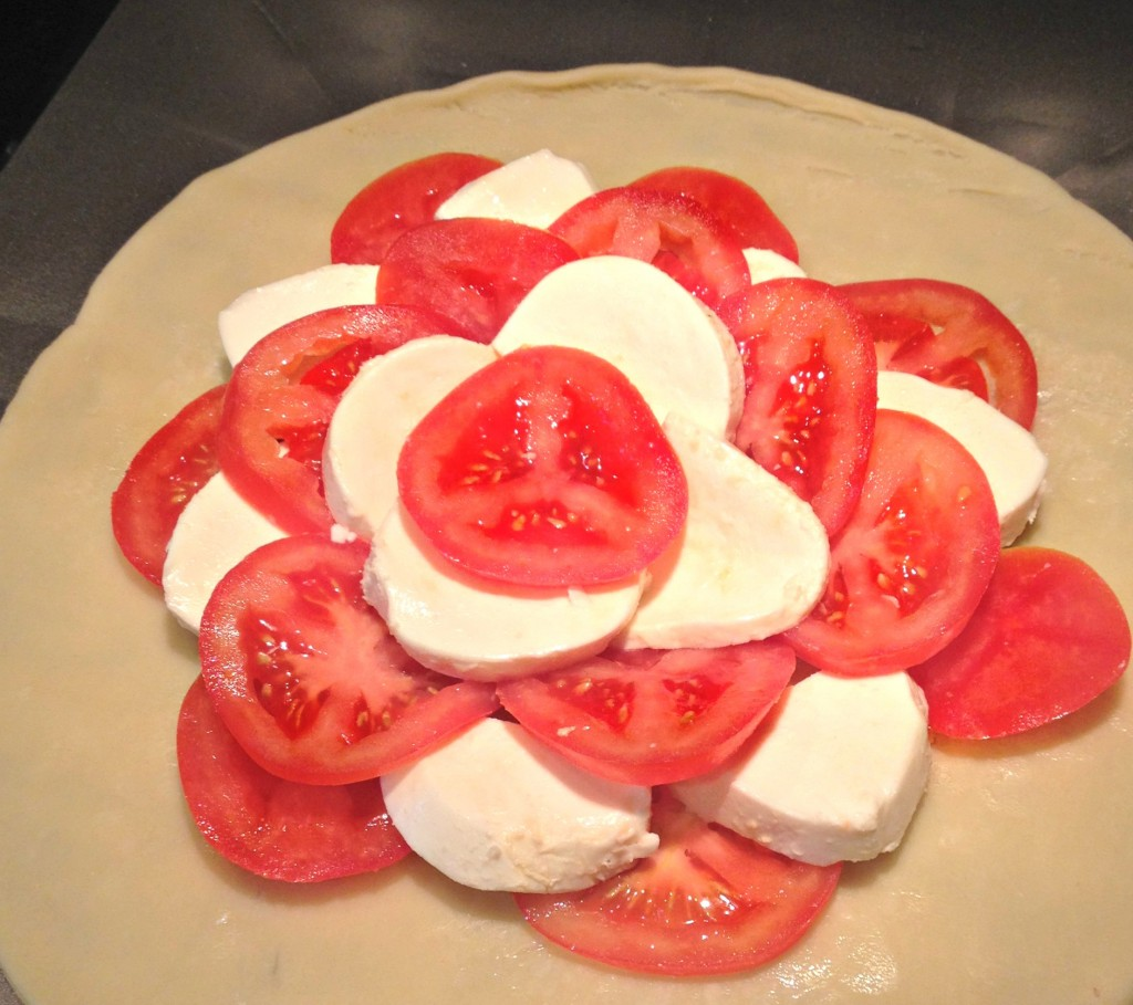 Layering the Tomato Tart