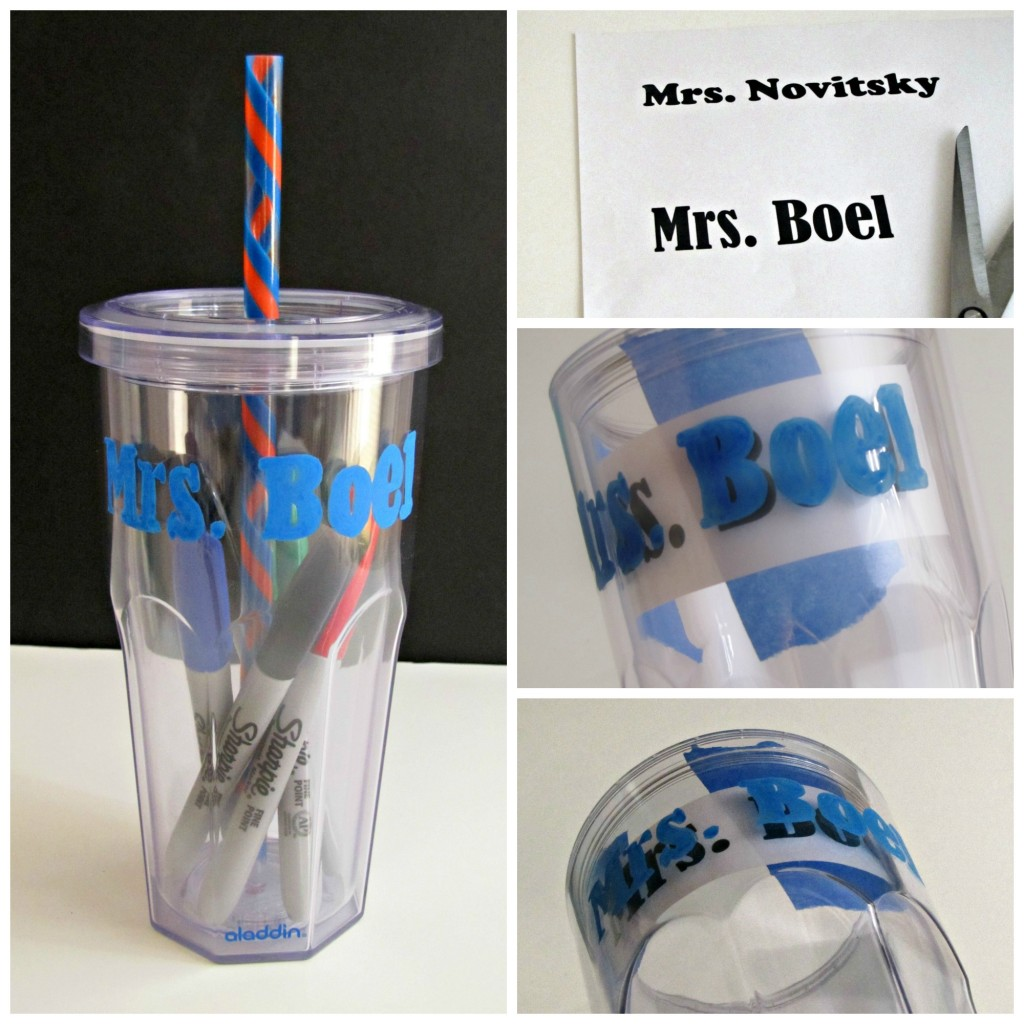 Making the Cup of Sharpies Teacher Gift