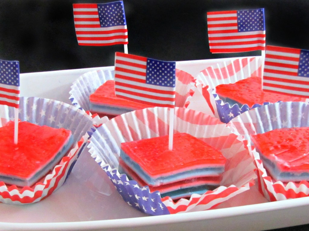 The Red White and Blue Jello Serving Ideas