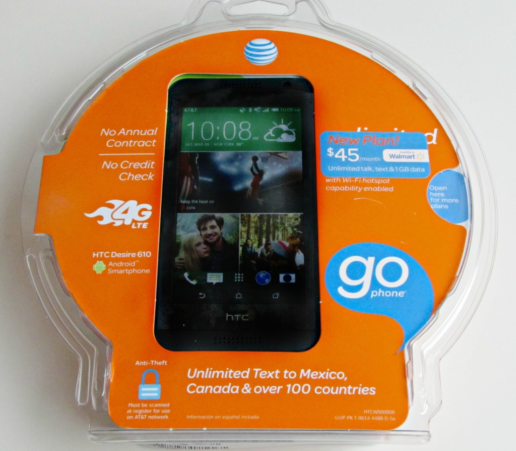 ATT Go Phone at Walmart -- HTC Desire