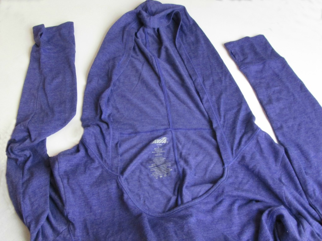 Avia Workout Shirt -- Long Sleeved with Hood -- at Walmart