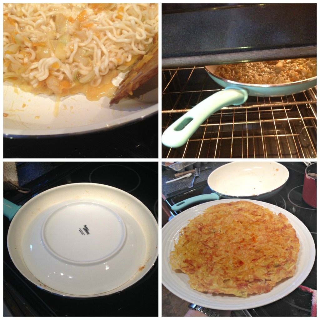 Cooking Ramen Egg Foo Young