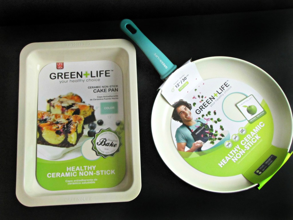 Green Life Ceramic Non Stick Frying Pan and Cake Pan