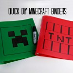 Quick DIY Minecraft Binders