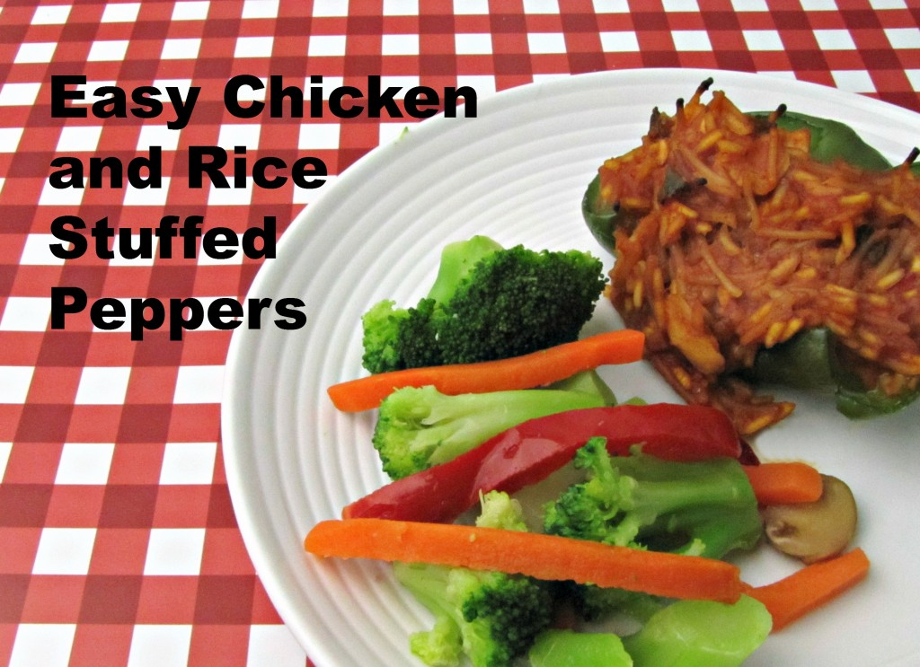 Easy Chicken and Rice Stuffed Peppers