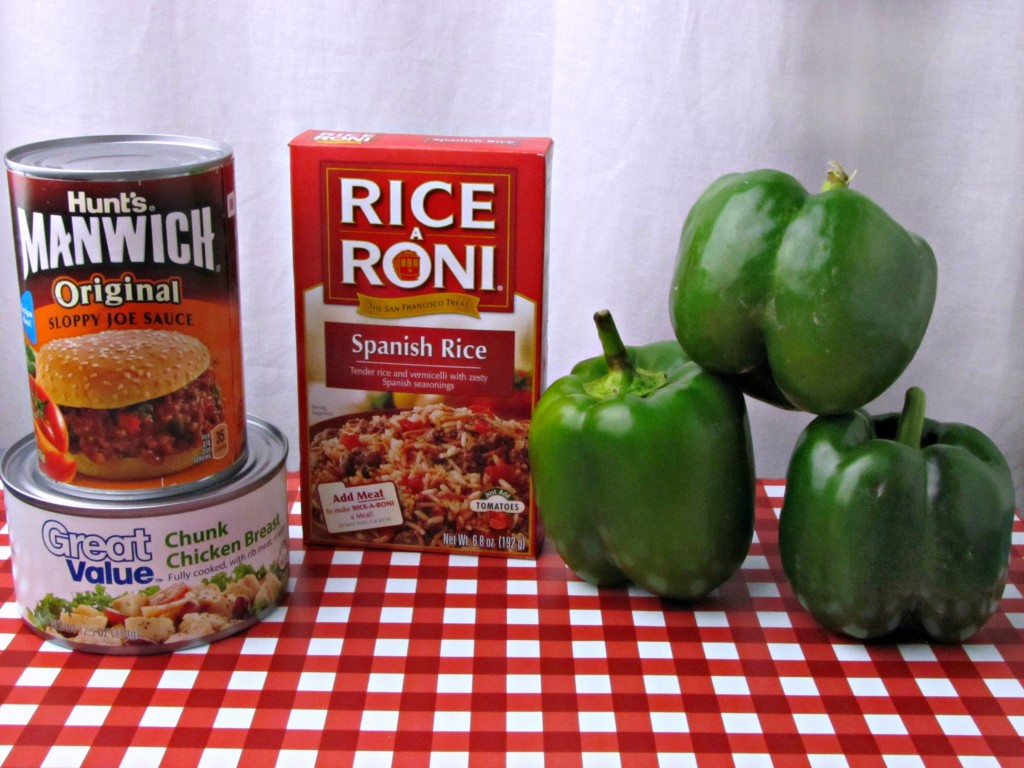 Ingredients for Easy Chicken Stuffed Peppers