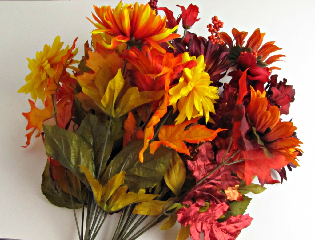 Fall Cornucopia with Silk Flowers - Frugal Upstate