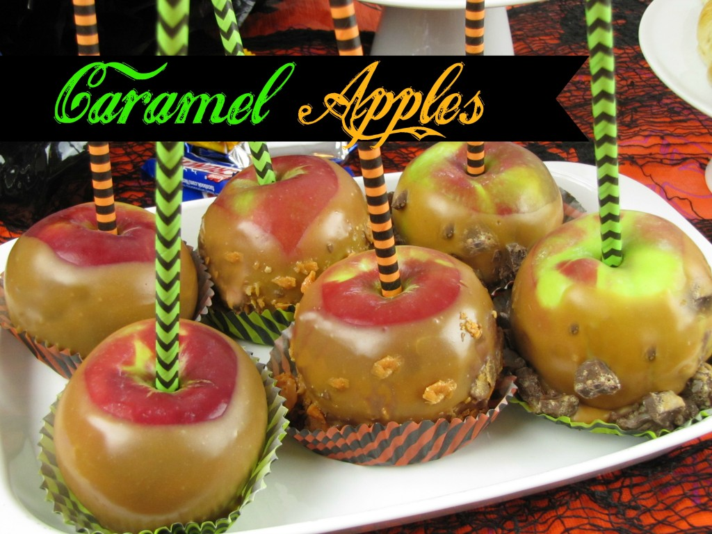 How to Make Caramel Apples with Halloween Candy from Walmart