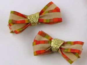 Holiday Hairbows for Thanksgiving