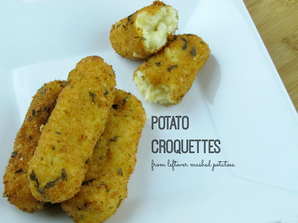 How to Make Potato Croquettes from Leftover Mashed Potatoes -- Great for Thanksgiving & Holiday Leftovers