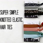 How to make Super Simple Knotted Elastic Hair Ties