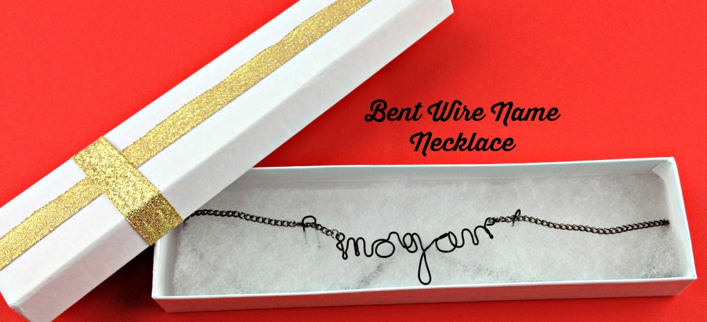 How to make a bent wire name necklace using Walmart craft supplies