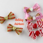 How to make holiday hairbows for Thanskgiving, Christmas or more--with ribbon from Walmart