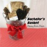 How to put together a Bachelor's Giftbasket for Dining Room Decor with items from Walmart