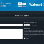 Walmart's Wall of Honor - Salute a Hero using a simple form