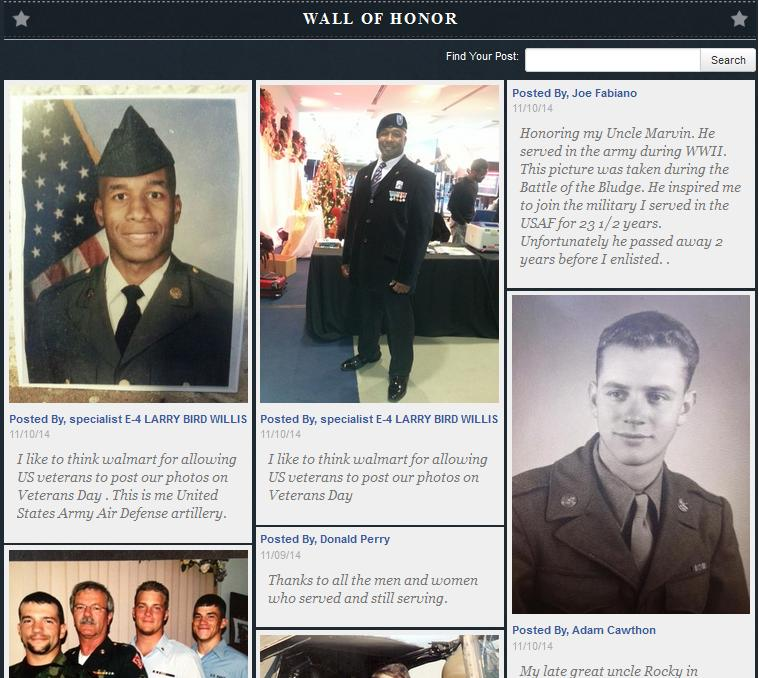 Walmart's Wall of Honor - See the Heros