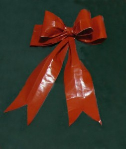 completed Duck Tape Bow