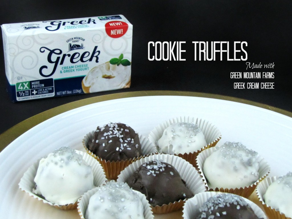 Cookie Truffles made with Green Mountain Farm Greek Cream Cheese