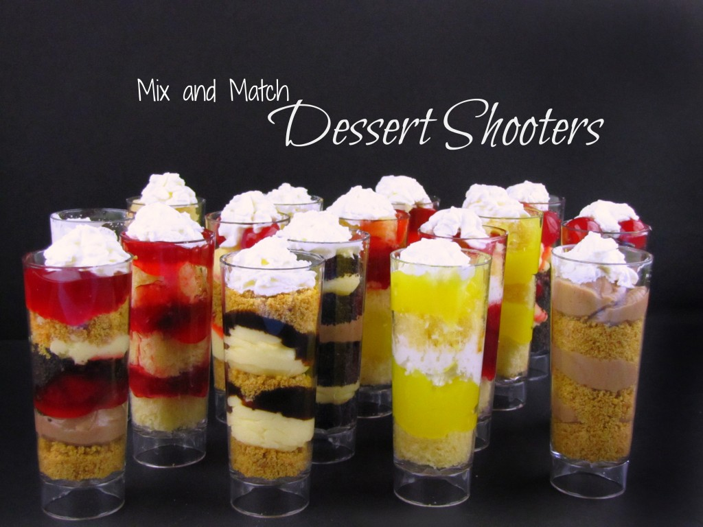 How to make Mix and Match Dessert Shooters with ingredients from Walmart