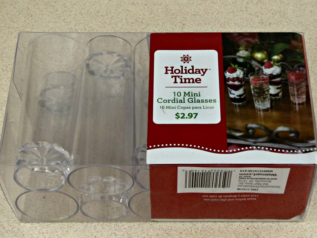 Mini Cordial Glasses from Walmart