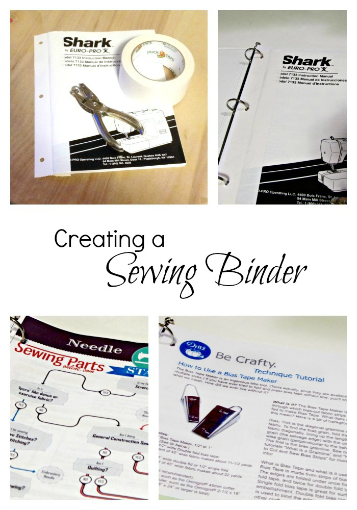 Creating a Sewing Binder -- scroll down in post for links to free printables